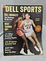 Dell Sports January 1965 Magazine Bill Bradley Princeton Chamberlain Hull