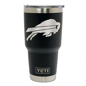 Buffalo Bills YETI Laser Engraved, Colster, 20 or 30 oz. Black Tumbler
