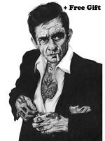 "Johnny Cash Poster 24"" x 36"""
