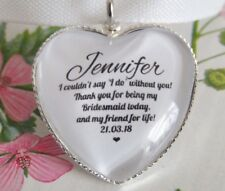 Bridesmaid Thank You Quote Bouquet Charm Personalised Wedding Gift From Bride
