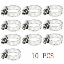 "10pcs/pack 3/8""-5/8"" Stainless Steel Drive Hose Clamp Fuel Line Worm Clip Nice"