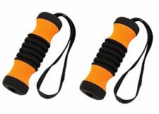 SALE 2 ORANGE Cane Replacement Handle Grips for Offset Aluminum Walking Canes
