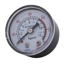 1/8ZG Male Thread 0-180PSI 1-11BAR Air Compressor Pressure Gauge - Clear/Bl Z2B6