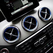 Mercedes Benz Lüftung Ring Rahmen Blende Abdeckung A B CLA GLA AMG Alu Blau