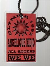 ANGELIQUE KIDJO used vintage concert PASS all access olympia 92 PARIS