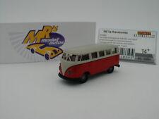 """Brekina 31834 - Volkswagen Bus T1b in rot - grau """" Mindersamba """" 1:87 NEU !!"""