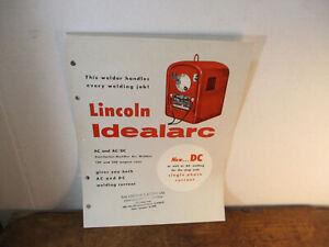 Lincoln Idealarc Welding Brochure 1957