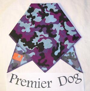Funky Purple Camouflage Dog Bandana - slips onto the collar - 2 sizes available
