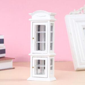 1:12 Dollhouse Miniature Wood Display Cupboard Cabinet Showcase Doll House De YK
