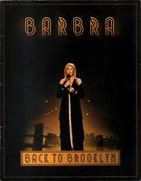 BARBRA STREISAND 2012 BACK TO BROOKLYN TOUR CONCERT PROGRAM BOOK / VG 2 NMT