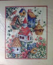 Sunset Birdhouse Garden By Ann Craig Counted Cross Stitch #13594 Size 11 x 14