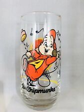 THE CHIPMUNKS Glass ALVIN Sing DANCE 1985 Rare VINTAGE Bagdasarian NICE   B13