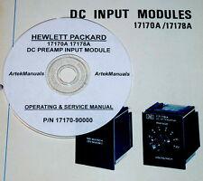 HP 17170A 17178A DC Preamp Module  Operating & Service Manual (good schematics)