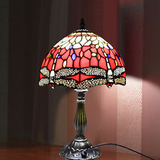 0f4b340b1c76 Dragonfly TIFFANY Style Stained Glass Antique Base Table Lamp with Zinc Base  UK