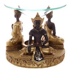 Marrone Dorato Thai Buddha BRUCIATORE OLIO CANDELA Tart SCALDA CERA si scioglie granuli