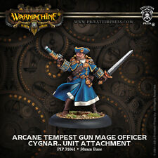 Warmachine: Cygnar Arcane Tempest Gun Mage Officer Unit Attachment PIP 31061