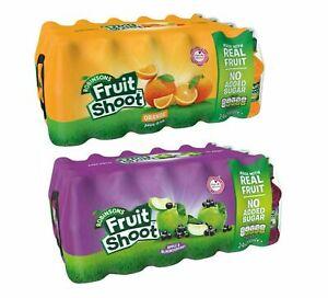 Robinsons Fruit Shoot Juice Drink 24 x 200ml Orange OR Apple & Blackcurrant