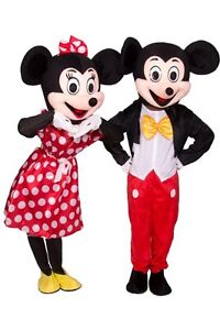 【 Haut Qualité 】 Mickey Mouse Costume Mascotte Taille Adulte Halloween Costume~