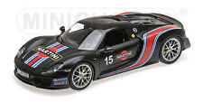 MINICHAMPS 2013 Porsche 918 Spyder Matt Black MARTINI STRIPES #15 1:18*Brand New