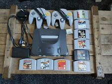 Nintendo 64 N64 Console bundle 2 controllers 9 games memory pak Tested