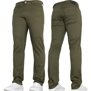 Mens Stretch Chinos Slim Fit Jeans Trousers Pants Waist Size by VON DENIM
