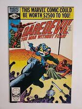 DAREDEVIL #166 (VF) 1980 GLADIATOR COVER & APPEARANCE; FRANK MILLER PENCILS
