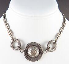 Detailed Choker Necklace Vintage Antique Victorian Etched