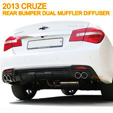 REAR BUMPER DIFFUSER DUAL MUFFLER DESIGN MATT BLACK FOR CHEVROLET 2013-14 CRUZE