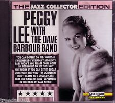 Peggy Lee Dave Barbour Band Jazz Collector Edition Laserlight CD Classic 50s 60s