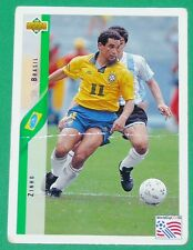 RARE FOOTBALL CARD UPPER DECK 1994 USA 94 ZINHO AURIVERDE BRESIL BRASIL