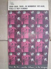 OSPAAAL Poster Che Guevara CREER DEUX TROIS DE NOMBREUX VIET-NAM FRENCH VERSION