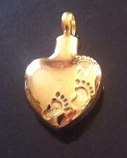 Cremation Jewellery Gold Pendant Ashes Hair Keepsake Footprints Memorial