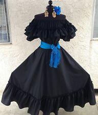 Mexican Dress Fiesta,5 De Mayo,Wedding 2 Pc w/Small Sash.Vestido Fiesta Mexicana
