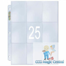 25 ULTRA PRO PLATINUM SERIES 9 POCKET PAGES FOR CARD BINDERS MTG WoW POKEMON