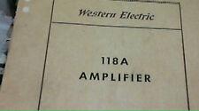 Western Electric INSTRUCTION MANUEL & SD 118A Amplifier
