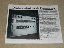 Phase Linear Ad, 300 II Amplifier, 1000 NR, 5100 Tuner, 3300 Preamp, 1 page