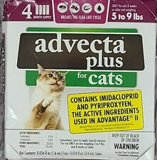 New listing Advecta Plus Flea Treatment for Cats 5-9 lbs 4 Month Supply