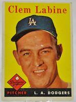1958 Topps Baseball Card #305, Clem Labine - L.A. Dodgers - VG+