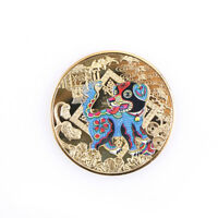 year of the dog golden 2018 chinese zodiac anniversary coins tourism gift TB