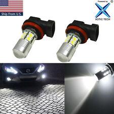 H8 100W 6000K Xenon White LED Fog Light Bulb For INFINITI M37 M56 QX56 EX35 FX35