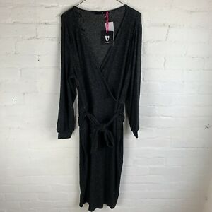 V by Very Curve Soft Rib Wrap Dress UK20