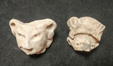 2 Mayan Cenote Yucatan Dig Pre-Columbian Stone Ancient Artifacts Demon Heads L4Z