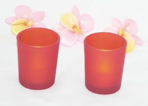 10 Orange Shot Glass Tealight Cup Candle Holder Wedding Birthday Table Party