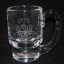 VINTAGE KOSTA BODA ART GLASS CRYSTAL MUG VICKE LINDSTRAND ETCHED 1975