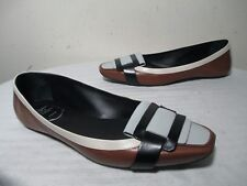 $420 ROGER VIVIER MULTI-COLOR LEATHER FLAT BALLET SHOES 37½ - US 7 MADE IN ITALY