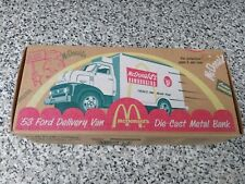 ERTL 1:24 Scale McDonald's Collection '53 Ford Delivery Van Die-Cast Metal Bank