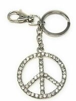 4.25 Inches Long Kubla Crafts Bejeweled Lucky 4 Leaf Clover Shamrock Key Chain
