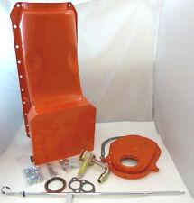 BBC Big Block Chevy Orange 7 Quart Oil Pan Kit W/ Timing Cover & Dipstick 454 V8