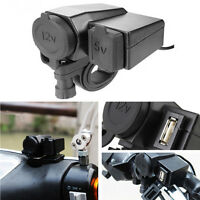 Waterproof Power Socket Motorcycle Cigarette Lighter USB Adaptor Outlet Charger