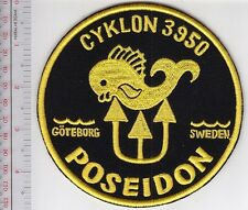 SCUBA Diving Sweden Poseidon US Navy Cyklon 3950 Regulator Patch Goteborg Swede